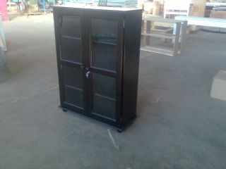 Mega Bookcase 1200 with Wood and Glass Doors and L