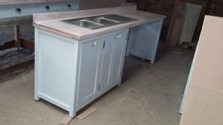 Sink Unit with Pull out Dirt Bin Draw
