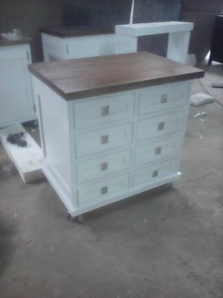 Eight draw Kitchen Unit on Wheels