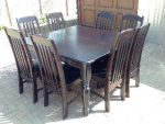 9 piece Table & Chair set 1500x1500 or 2100 x 1030