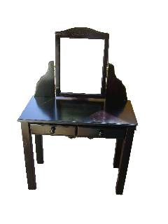 W Dressing Table and Mirror with Square Legs