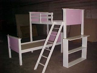 Vin Panel Bunk Bed L Shape