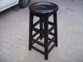 Bar stool Round with extra rails