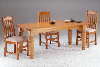 Colorado Dinning Room Table Only Large Turned Leg