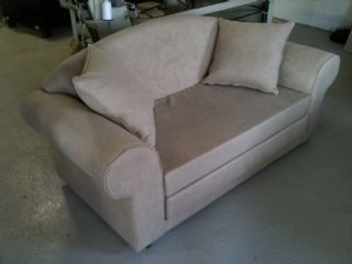 Nicky sleeper couch In Camel Suede