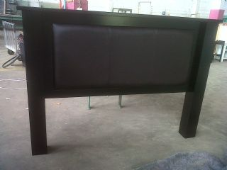 Large leg and Cap Head Board with Material Insert