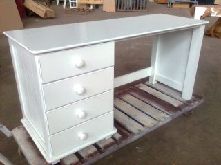 Lilies Four Draw Panel Desk
