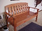 Discovery bench 2 seater with armrests